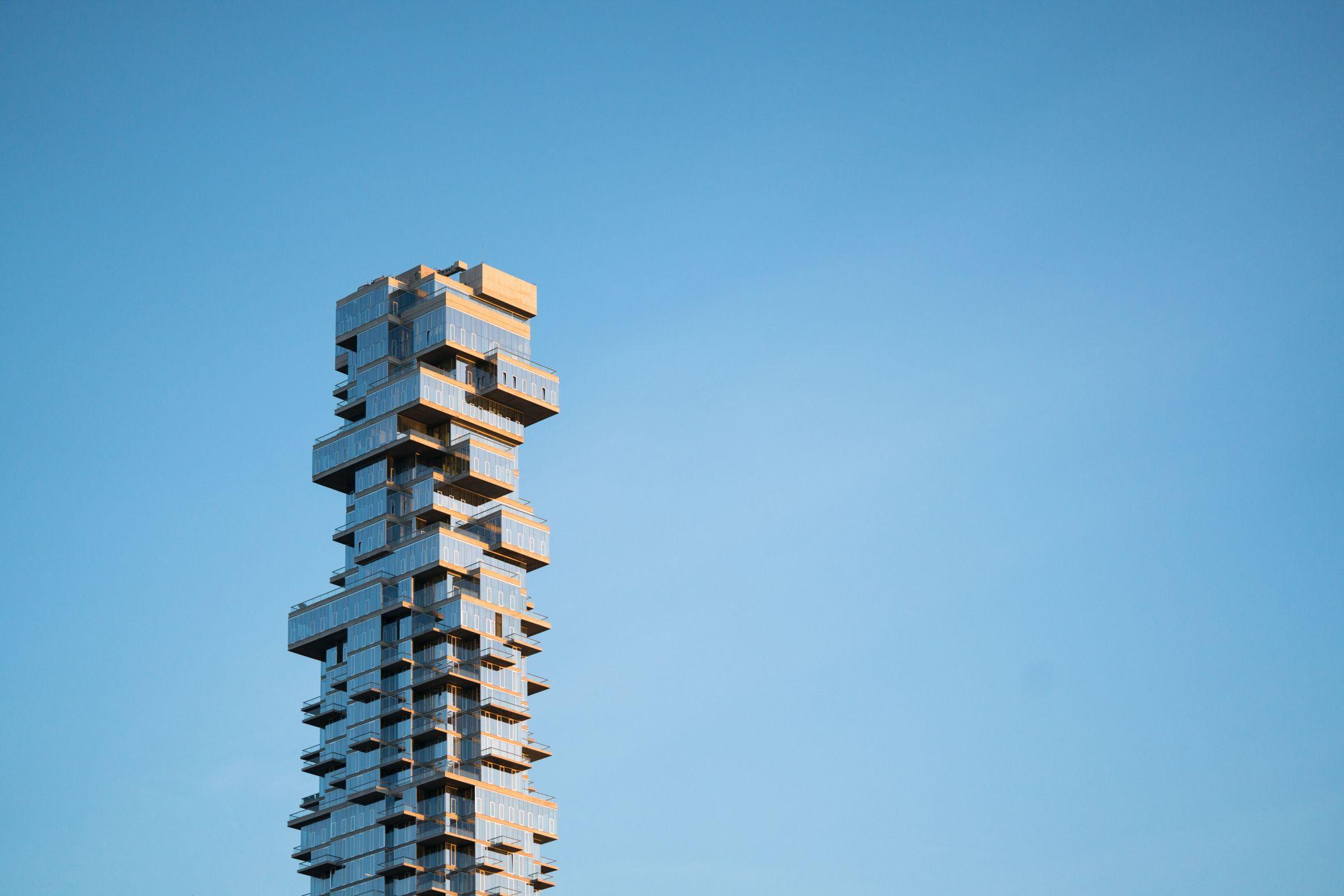 Urban design, Sky, Building, Tower, Cloud, Plant, Rectangle, Tree